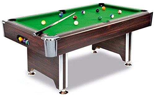 Unbekannt Billardtisch SEDONA 7 ft. - ein hochwertiger Tisch zu einem tollen Preis in Mahagoni-Dekor, mit Chromecken