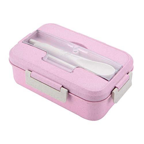 Bento Box - Fiambrera infantil con compartimentos, lonchera a prueba de fugas, caja de almuerzo, calefacción por microondas para escuela, trabajo, picnic, viajes.