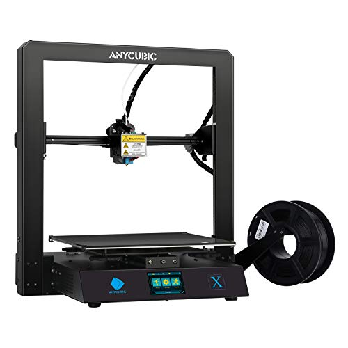 ANYCUBIC 3D Printer MEGA X Large Size FDM 3D Printer with Resume Print and Removable UltraBase Hotbed Platform with Free 1kg PLA Filament, Support PLA, ABS, TPU,Build Size 300X300X305mm