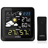 iRegro Weather Station Digital Color Forecast Wireless Sensor with Forecast/Alert Temperature/Humidity/Barometer/Moon Phase/Alarm/LCD Weather