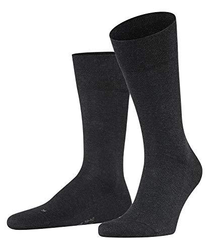 FALKE Herren Sensitive London M Socken, Grau (Anthracite Melange 3080), 43-46 EU