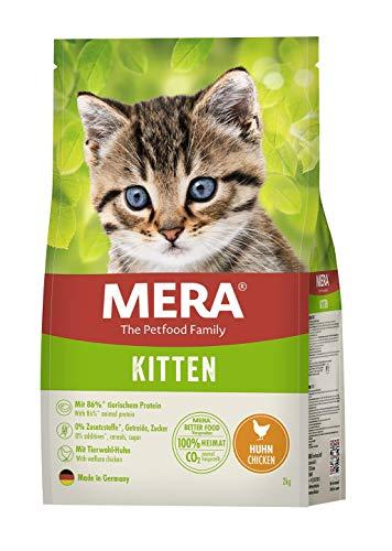 MERA Cats Kitten Huhn, Trockenfutter für heranwachsende Katzen und Kätzchen, getreidefrei & nachhaltig, Katzentrockenfutter mit hohem Fleischanteil, 2 kg