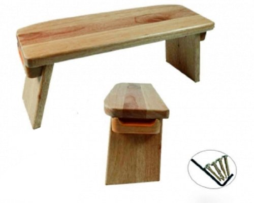 Budawi® Yoga Meditationsbank, feststehende Beine. Beinhöhe 21-18.5 cm, Breite 15 cm