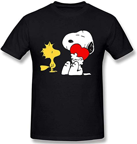 Heren Snoopy Woodstock Graphic Design T-shirt met korte mouwen