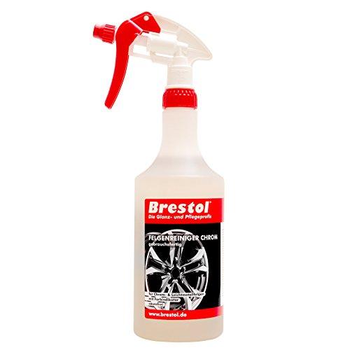 Brestol Felgenreiniger Chrom 750 ml gebrauchsfertig inkl. Sprühkopf Profi - für chromfelgen Alufelgen Stahlfelgen - pH-neutral