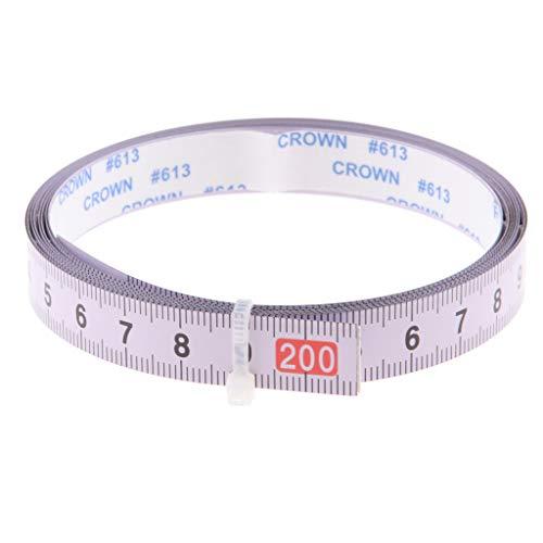 Kesoto Regla métrica cinta adhesiva DIY cinta métrica costura herramientas accesorios, longitud a elegir Von links nach rechts (0-200CM)