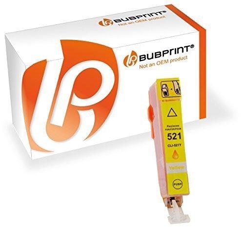 Bubprint Druckerpatrone kompatibel für Canon CLI-521Y CLI 521Y für Pixma IP3600 IP4600 IP4700 MP540 MP550 MP560 MP620 MP630 MP640 MP980 MP990 Yellow