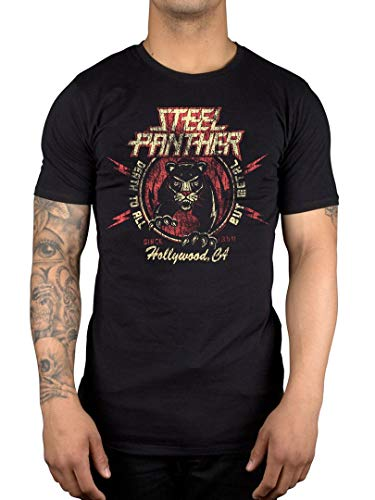 Offiziell Steel Panther Death to All But Metal T-Shirt, Schwarz, M