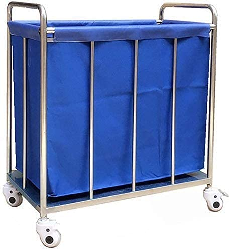 Tcbz Cart, Medical Cart, Speisewagen, recoger, Medical Wagen Blue Hotel Rollen Wäscherei Sorter Wagen auf Rädern, Heavy Duty Lobby Corrector Leinen Wagen mit Abnehmbarer waschbarer Bezug