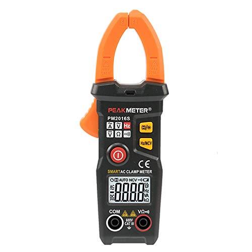 YISUNF Actual Clamp Meter PM2016S Inteligente Mini Digital AC Pinza amperimétrica multímetro con frecuencia Resistencia de retención de Datos NCV Tester probador Digital Multifuncional