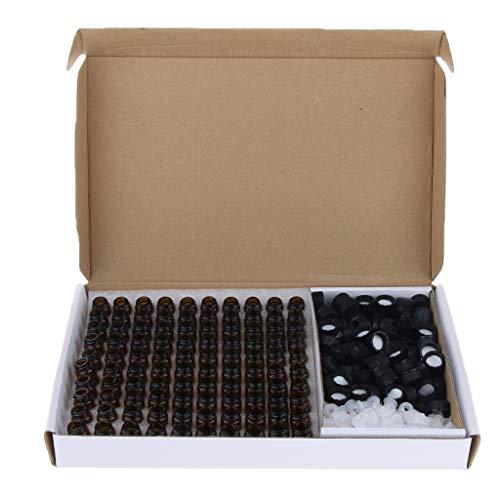 perfeclan 100pcs / Set Mini Bouteille Verre Ambre Vide Petite Flacon De Parfum D'huile Essentielle - 2 ml
