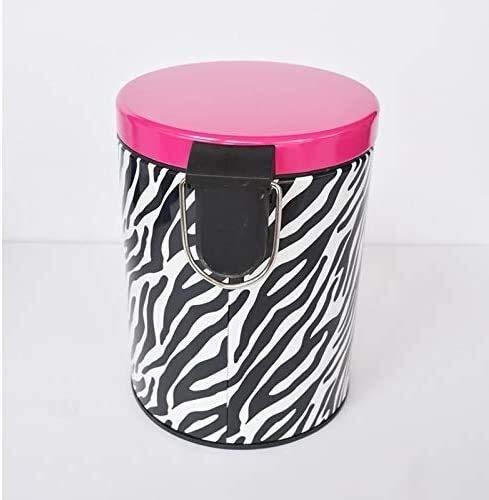 LUCKY Edelstahl Abfalleimer Mute Mit Pedalabdeckung Papierkorb Doppel Rust Müllvorratsbehälter (Multi-Color optional) Papierkorb (Color : A)