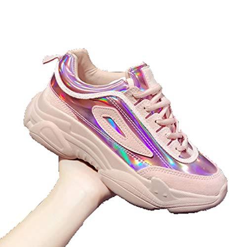 Dames Dikke Sneakers Platform Lentesport Hardlopen Wandelen Flats Casual Veterschoenen Vulcaniseer Schoenen Mode Ronde Neus Wedge-sneakers