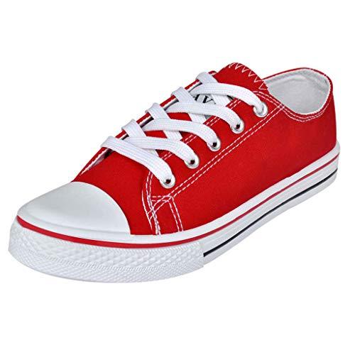 Geniet van winkelen met Klassieke lage dames sneakers rood (maat 37)