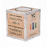 Kistenkolli Altes Land Teekiste klein Calcutta Teebox Beistelltisch Holzkiste Dekokiste
