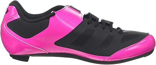 Giro Damen Raes Techlace Road Radsportschuhe - Rennrad, Mehrfarbig (Bright Pink/Black 000), 41 EU