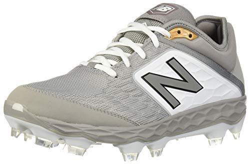 New Balance Men's 3000v4 Baseball Shoe, Grey/White, 16 2E US
