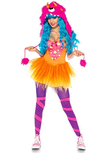 Leg Avenue 83996 - Shaggy Shelly Kostüm, Größe XS, rosa
