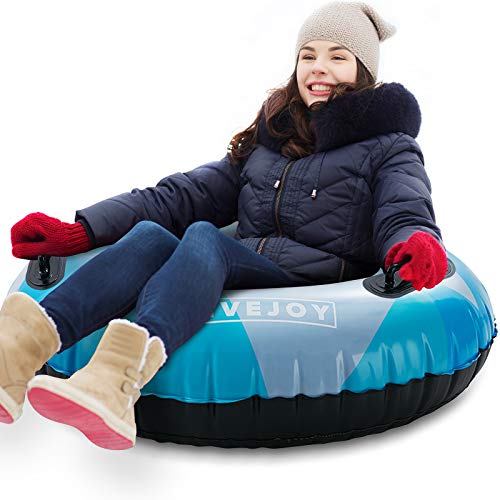 FiveJoy Snow Tube 47 Inch Large Snow Sled Inner Tube Winter Snow