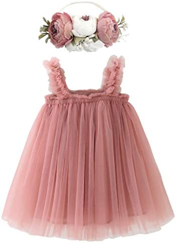 BGFKS Layered Tulle Tutu Dress for Toddler Girls Baby Girl Rainbow Tutu Princess Skirt Set with product image