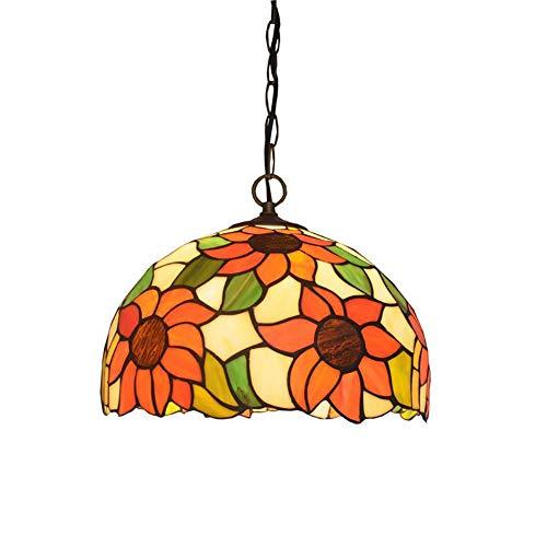 GJBHD Vintage Estilo Tiffany Iluminación Colgante,3-luces E27 Trabajo Manual Cristal Decoración Lámpara Colgante,Ajustables Iluminación Colgante Para Comedor Bar Vistoso 50cm(20in)
