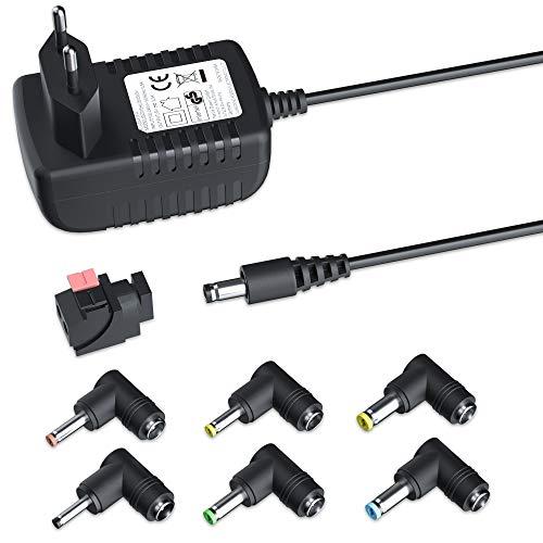 NEW POW AC zu DC 12V Netzteil 2A 24W Netzkabel Ladegerät für CCTV, Sprecher, LED-Streifenstecker, Lüfter, Router, hub, weitere 12V-Geräte (stark Anpassungsfähigkeit, 7 Tipps)