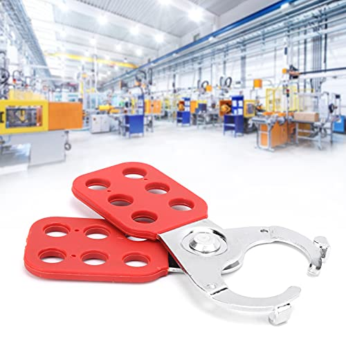 Lockout Safety Supply, Locks Hanging Hasp Compact Rust Proof Easy to Use Steel Multiple Management with 6 Hole for Industry for Security