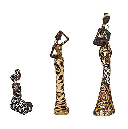2 portavelas para mujer, belleza exótica, soporte para velas de resina negra, adornos creativos, decoraciones de escritorio