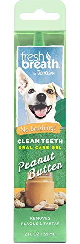 Price comparison product image Fresh Breath by TropiClean No Brushing Peanut Butter Flavor Clean Teeth Dental & Oral Care Gel for Dogs,  2oz,  Made in USA