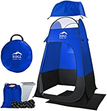 6.5ft Pop Up Changing Shower Privacy Tent – Portable Utility Shelter Room with rainfly Ground Sheet for Camping Shower Toilet Bathroom Trade Shows Beach Spray tan popup