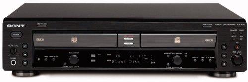 Sony RCD-W100 - Reproductor y grabador de CD, color negro