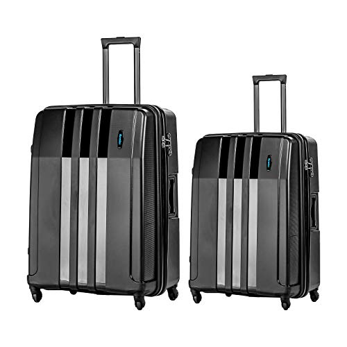 Kemier Hardside Expandable Luggage with Spinner Wheels,Carry-On,2-Piece Set(22/26)