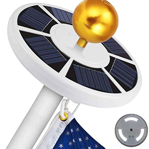 Gutyan 42LEDs Solar Flagpole Light Solar Fahnenmast Fahnenstange Licht Wasserdicht Strahler für die Meisten Flag Pole für Flag Pole Topper Nacht Beleuchtung