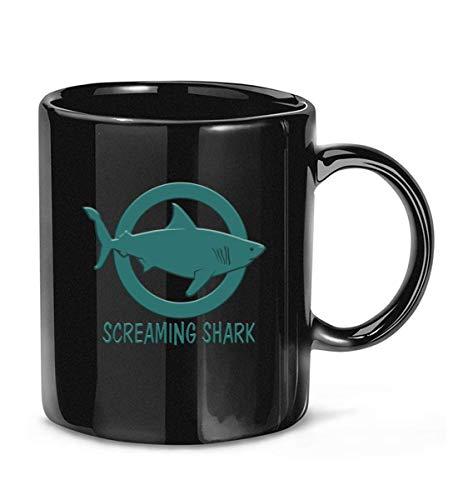 N\A Taza de café clásica de Screaming Shark Channel Merch para Mujeres y Hombres Tazas de té