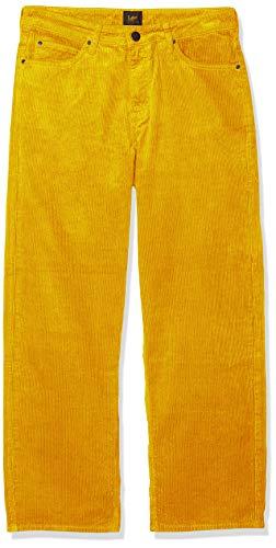 Lee 5 Pocket Wide Leg Corduroy, Pantalones para Mujer, Amarillo (Florida 29), W26/L33