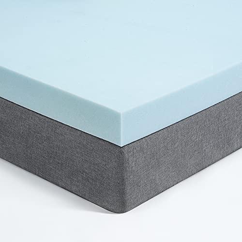 Recci Memory Foam Mattress Topper King Size Bed, Pressure Relief Mattress Topper for Back Pain, Gel Infused Foam Mattress Topper, Cooling Mattress Topper, CertiPUR-EU (UK King Size-150x200x5cm)