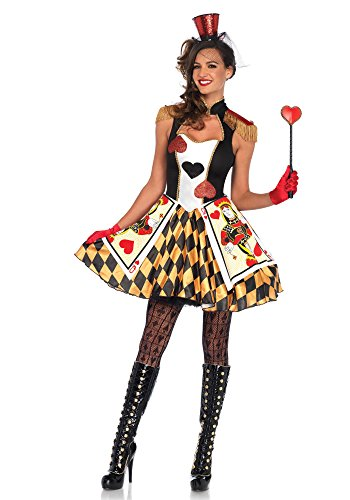 LEG AVENUE 86638 Kostüm Set Card Guard, Damen Karneval Fasching, L, Mehrfarbig