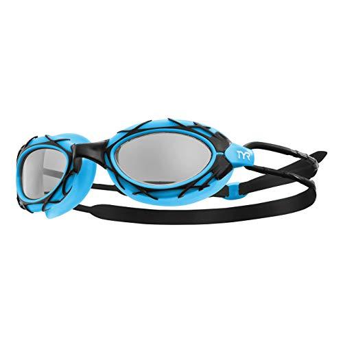 TYR Nest PRO, Occhialino da Nuoto E da Triathlon Unisex – Adulto, Smoke/Blue/Black, M