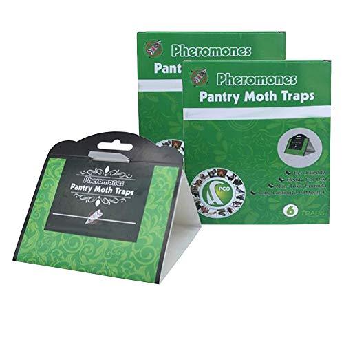 Greenty 12X Trampa para Polilla de despensa - Medios de protección contra Las polillas en la Cocina y el Almacenamiento de Alimentos