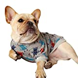 Pet Clothes| Doggy Clothes Robot Print Shirts| Puppy's Dogs Clothes| Summer Thin Breathable T-Shirt for Dogs| Law Fighting Keji Cute Tank for Small Dog| Cat's Dog's Vest| S\M\L\XL\XXL