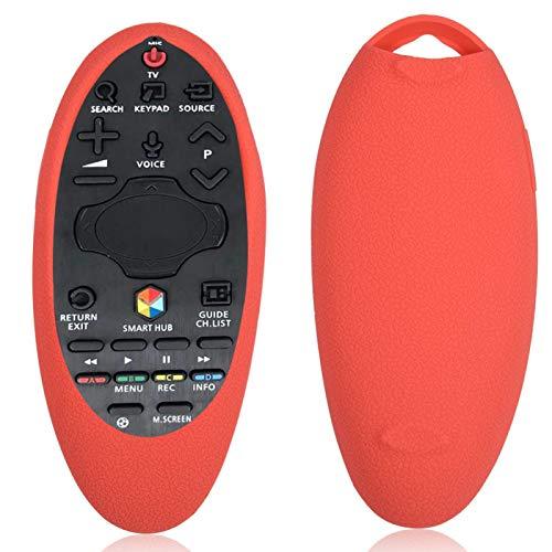 DAUERHAFT Estuche a Prueba de Polvo para Samsung BN94-A55 Estuche Remoto para Samsung Remote a Prueba de Golpes, para el Sensor de Control Remoto(Red)