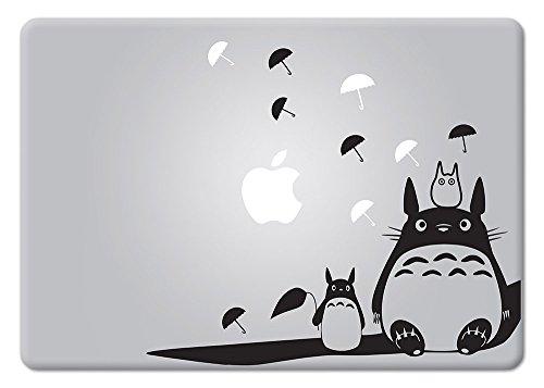 SHANCrafts Totoro Studio Ghibli Apple MacBook Decal Vinyl Sticker Apple Mac Air Pro Retina Laptop Sticker