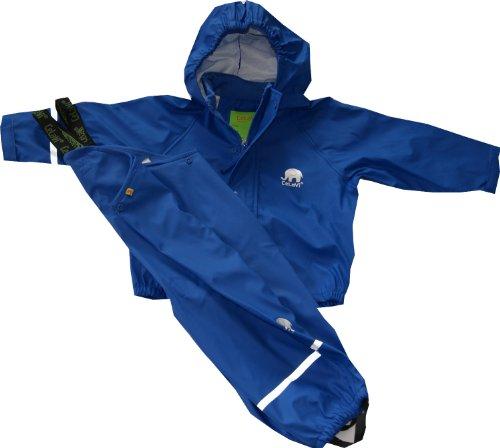 CeLaVi Combinaison de pluie en 2 parties imperméable et coupe-vent de qualité supérieure - Bleu - 120/122 cm