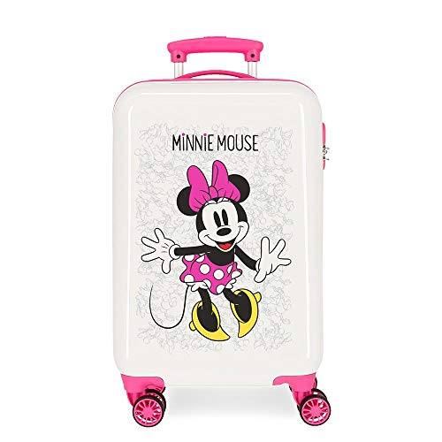 Disney Enjoy The Day Equipaje infantil, 55 cm, 34 litros, Blanco