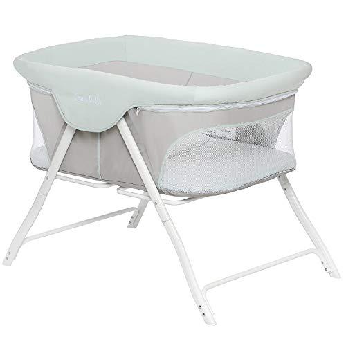 411fGrd4fbL - Baby Bassinet RONBEI Bedside Sleeper Adjustable Portable Bed