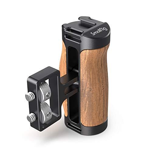 """SMALLRIG Mini Seitengriff aus Holz (1/4 """"-20 Schrauben) für Kamera Cage - 2913"""