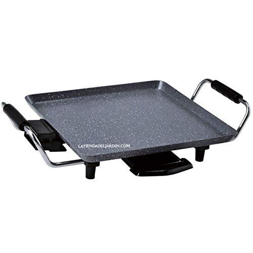 Suinga PLANCHA DE ASAR con revestimiento de piedra. Con termostato hasta 250º. Superficie de cocinado de 28 x 28 cm. Potencia 1500 W