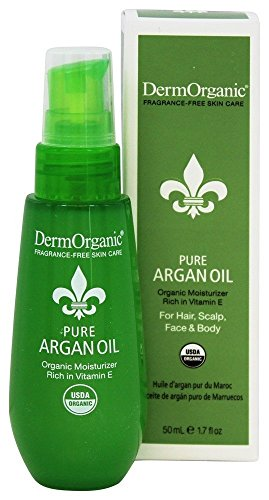 DermOrganic 100% Pure Argan Oil - Organic Moisturizer for Hair & Skin, 1.7 fl.oz