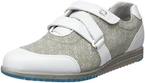FootJoy Casual Collection 97724065M, Zapatillas de Golf para Mujer, (Blanco/Gris), 37 EU