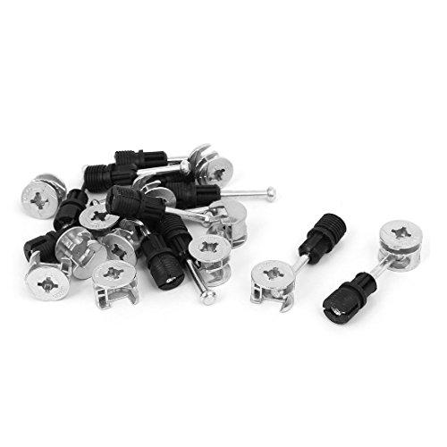 Aexit 12 Schrauben Sets Büro Zink Legierung Anschlussbeschläge Madenschrauben Exzentrische Nockenradmutter